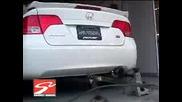 Тест На Honda Civic Si Sedan 2008 - Смяна На Оригиналния Ауспух С Skunk2!