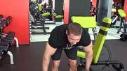 Фитнес упражнения - Разтваряния с дъмбели за задно рамо