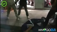 Цивилни полицай разбиват хулигани от Псж !