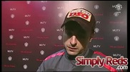 Интервю на Димитар Бербатов след спектакъла срещу Блекбърн