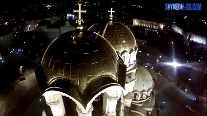 Ал. Невски през нощта от Х-коптер
