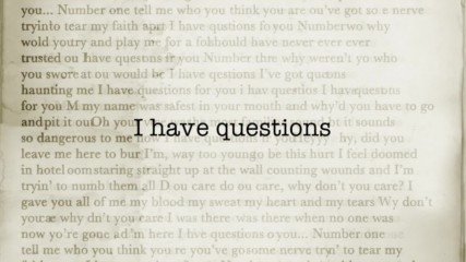 Camila Cabello - I Have Questions Lyric Video