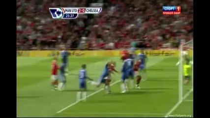 08.05.2011 Манчестър Юнайтед - Челси 2-0 Гол на Видич ' Първо Полувреме'