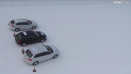 Тест между зимни, летни и всесезонни гуми в зимни условия