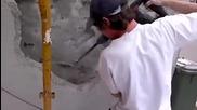 Как се кърти мазилка с хилти