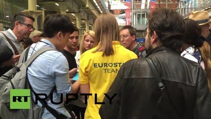 UK: Stranded passengers in tears as protests shut down Eurostar