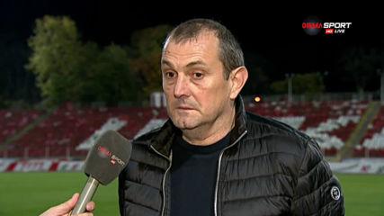 Загорчич: Доволен съм, но ЦСКА заслужено спечели