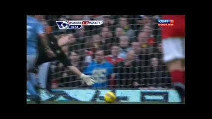 Манчестър Юнайтед - Манчестър Сити 1 - 0 гол на Нани 12.2.11