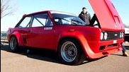 Fiat 131 Rally Mirafiori with Abarth Engine - Furious engine and exhaust sound Autodromo di Moden