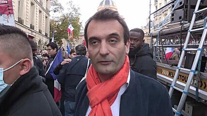 France: Demonstrators gather outside Senate to protest Sanitary Pass