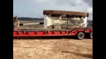 Новобранец преобръща танк