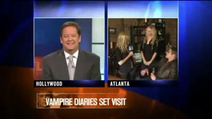 Ktla Morning Show live from Tvd - Matt and Caroline(zach and Candice)