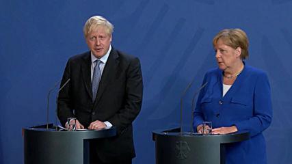 Germany: Merkel offers Johnson alternative to Irish border backstop at Berlin talks
