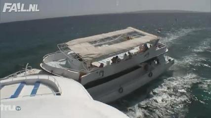 Яка катастрофа с яхти!