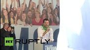 Italy: Lega Nord's Salvini rallies in historically leftist Bologna