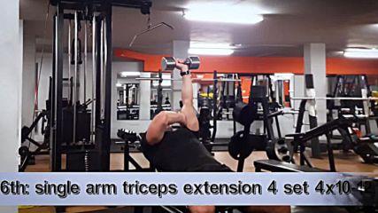 90 дневна трансформация | Изграждане на мускул, горене на мазнини | Ден 43 - Гърди, трицепс