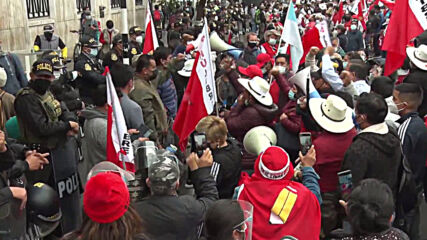 Peru: Castillo supporters protest as electoral board reviews result of presidential election