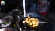 Бърза Храна на улицата .. Idly Masala Fry - Spicy Masala Idli - Kaima Idli - India