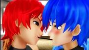 Akaito x Kaito - Pocky Game , Yaoi