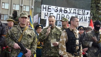 9-ти май 2014, Славянск, Днр, Павел Губарев