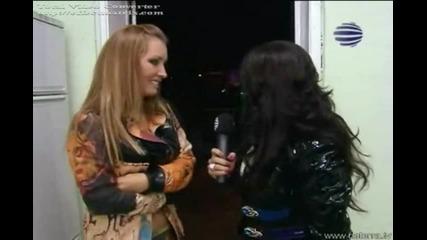Преслава взима интервюта по време на концерта в Пазарджик(Planeta Derby Plus)