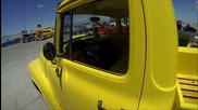 1956 Ford F100 yellow truck