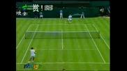Wimbledon - Federer - Hrbaty - 3:0 Втори Сет