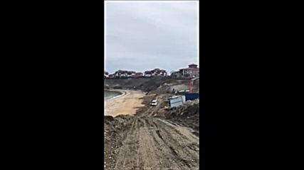 Строителство на Шофьорския плаж в Созопол
