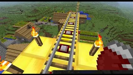 Minecraft мойта писта с колички !!!