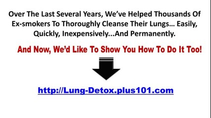 How To Clear Tar From Lungs
