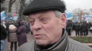 Ukraine: Hundreds of Donetsk miners rally outside Verkhovna Rada