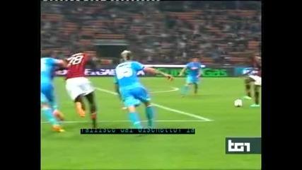 """""""Наполи"""" продължава победния си ход след 2:1 като гост на """"Милан"""""""