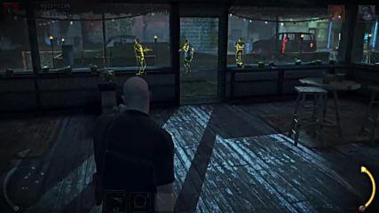 Агент 47 убива безшумно с нож 1