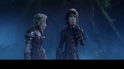 """Как да си дресираш дракон: Тайнственият свят - клип """"Светъл бяс в нападение"""""""