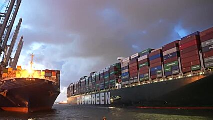 Netherlands: Ever Given, the ship known for blocking Suez Canal, arrives at Rotterdam port