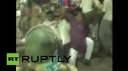 India: Police baton-charge worshippers in Varanasi