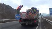 Запълват дупките по Е-79 край Благоевград