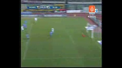 Catania Vs Ac Milan 0:1 Pato Goal