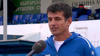 Владимир Иванов: Ще се стремим нагоре да гоним поне третото място