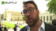 European 'Human Kiss Chain' Culmintes in London for 'Bremain' Campaign