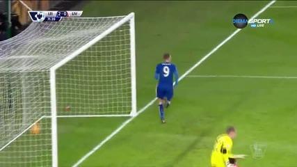 Лестър - Ливърпул 2:0 , 24 кръг, Висша лига