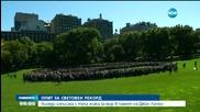 Хиляди изписаха с телата си знака за мир