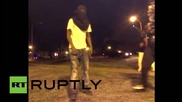 USA: Ferguson police out in force after protest against fatal shooting