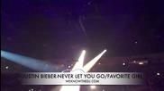 На живо! Jusin Bieber - Never let you go & Favorite girl