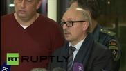 Russia: St. Petersburg official urges end to 'speculation' over A321 crash