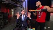 Ricochet drenches The Miz & John Morrison with the Drip Stick: Raw, June 28, 2021