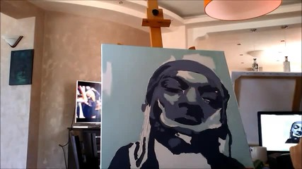 Надя рисува Snoop Dogg поп арт портрет