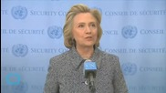 Clinton: 'I'm Confident I Never Sent Or Received Classified Information Private Email'