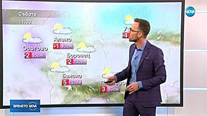 Прогноза за времето (19.01.2019 - обедна)