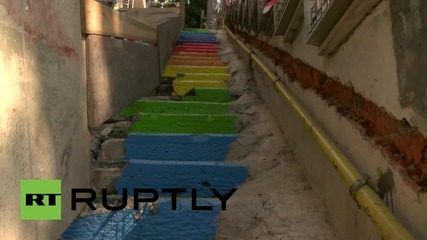 Turkey: Istanbul's 'Rainbow Stairs' destroyed to be rebuilt